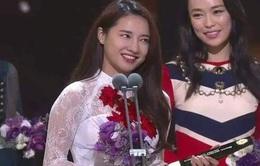 """Sau VTV Awards 2016, Nhã Phương lại sang Hàn Quốc """"ẵm"""" giải"""