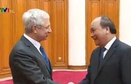 Phó Thủ tướng Nguyễn Xuân Phúc tiếp Chủ tịch Quốc hội Pháp