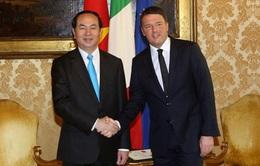 Chủ tịch nước Trần Đại Quang hội kiến Thủ tướng Italy Matteo Renzi