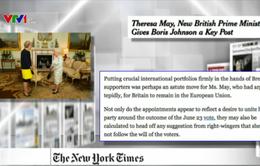 Thủ tướng Anh bổ nhiệm thành viên nội các mới - Tâm điểm báo chí quốc tế