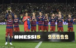 Barcelona thắng giòn giã 6-0 trong ngày Messi khoe bóng Vàng