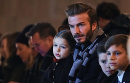 Ngắm Harper xinh như thiên thần trong vòng tay bố Beckham