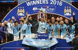 Man City vô địch Capital One Cup sau loạt luân lưu khó tin với Liverpool
