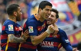 """""""Huỷ diệt"""" Espanyol, Barcelona tự quyết ngai vàng La Liga 2015/16"""