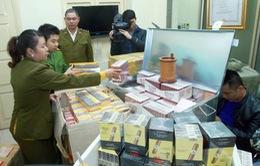 Thanh Hóa: Bắt vụ vận chuyển trái phép hơn 1.200 cây thuốc lá
