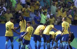 """Dội """"mưa"""" bàn thắng vào lưới Olympic Honduras, Neymar cùng Olympic Brazil tiến vào chung kết"""