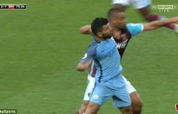 CHÍNH THỨC: FA sờ gáy, Aguero lỡ trận derby Manchester