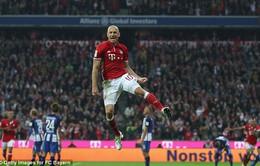 VIDEO, Bayern Munich 3-0 Hertha Berlin: Robben ghi bàn ngày trở lại
