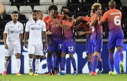VIDEO, Swansea 1-2 Man City: Giữ mạch toàn thắng
