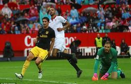 VIDEO, Sevilla 1-0 Atl Madrid: Thất bại đầu tiên