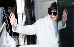 Lee Min Ho điển trai tựa thiên thần tuyết ở sân bay