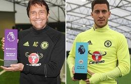 Hazard và Conte giành cú đúp danh hiệu cá nhân cho Chelsea