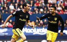 Osasuna 0 - 3 A.Madrid: Chiến thắng dễ dàng!