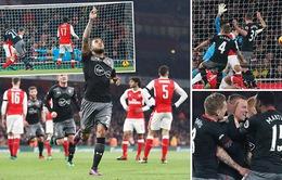 VIDEO: Southampton ngắt mạch bất bại của Arsenal ngay tại Emirates