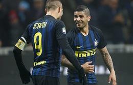 Inter Milan 3 - 0 Lazio: Icardi lập cú đúp, Inter đánh bại Lazio