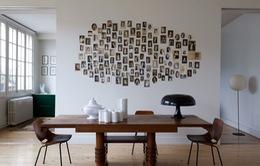 Biến hóa tường nhà sinh động bằng những tấm ảnh kỷ niệm