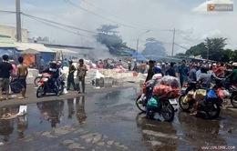 TP. HCM: Cháy lớn tại chợ đầu mối nông sản Thủ Đức
