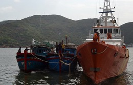 Cứu hộ tàu cá và 6 ngư dân bị nạn trên biển Vũng Tàu