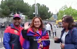 CĐV Barcelona sau trận derby với Espanyol