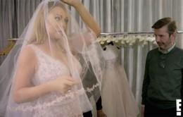 Trước khi chia tay hôn phu tỷ phú, Mariah Carey đã đi chọn váy cưới