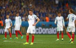 EURO 2016, Anh 1-2 Iceland (KT): Thua ngược Iceland, tuyển Anh dừng bước ở vòng 1/8