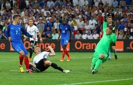 VIDEO EURO 2016: Hàng thủ Đức mắc sai lầm, Griezmann nhân đôi cách biệt
