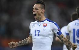 VIDEO EURO 2016: Bàn thắng tuyệt phẩm của Hamsik vào lưới ĐT Nga