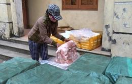 Bắt xe ô tô tải chở 1 tấn thịt thối tại Quảng Trị