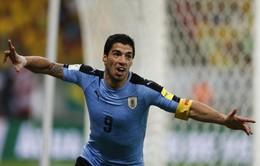 Suarez trở lại và tỏa sáng, Uruguay cầm chân Brazil trên sân nhà
