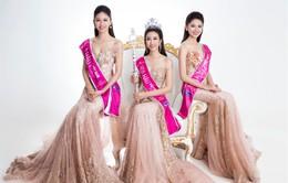 Diện trang phục dạ hội, Hoa hậu Mỹ Linh tỏa sáng bên hai Á hậu