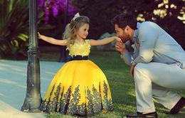Những khoảnh khắc ngọt ngào của cha và con gái