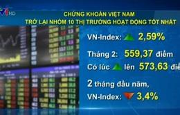 Chứng khoán Việt Nam trở lại nhóm 10 thị trường tốt nhất