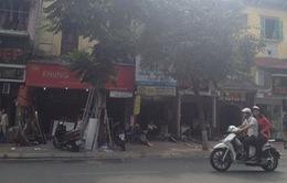 Toàn bộ tài sản bị thiêu rụi trong đám cháy cửa hàng tranh ở phố Nguyễn Thái Học