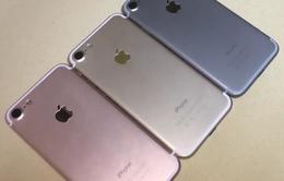 Cận cảnh iPhone 7 phiên bản vàng hồng, vàng gold và xám đen