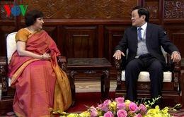 Chủ tịch nước Trương Tấn Sang tiếp Đại sứ Ấn Độ