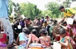 Ấn Độ cung cấp bữa ăn miễn phí cho trẻ em vùng bị hạn hán