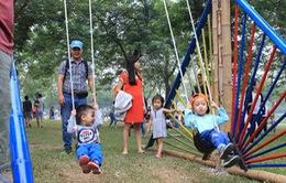 Độc đáo lễ hội Xích đu lần đầu tiên ở Hà Nội