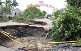 Sụt lún đất ở Cẩm Phả (Quảng Ninh) do vận động tự nhiên
