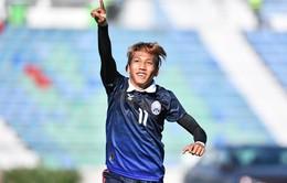 """VIDEO: """"Messi Campuchia"""" Vathanaka lập cú đúp vào lưới Malaysia"""