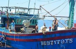 Tàu Hải quân cứu 10 ngư dân gặp nạn trên biển