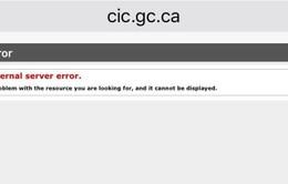 Trang web về nhập cư của Canada bị sập