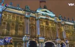 Biểu diễn ánh sáng nghệ thuật tại Saint Petersburg (Nga)