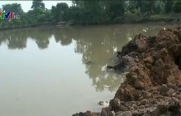 UBND xã Vĩnh Ngọc (Hà Nội) vào cuộc xử lý vụ san lấp trái phép ao hồ
