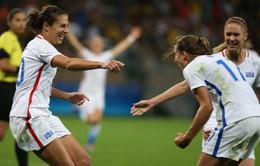 Olympic 2016: ĐT bóng đá nữ Mỹ khẳng định sức mạnh