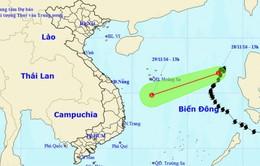 Áp thấp nhiệt đới suy yếu và tan dần trong 24 giờ tới