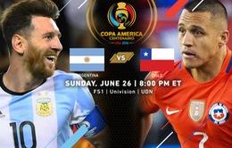 Chung kết Copa America 2016, Argentina – Chile: Ngày đăng quang của Messi?