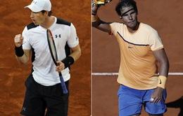 """Nadal quyết tâm """"rửa hận"""" Murray ở bán kết Madrid Open 2016"""