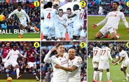 """Liverpool """"vùi dập"""" Aston Villa bằng một set tennis trắng"""