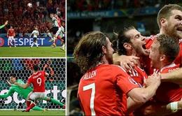 VIDEO EURO 2016: Xem lại diễn biến trận đấu ĐT Xứ Wales 3-1 ĐT Bỉ