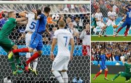 VIDEO EURO 2016: Xem lại trận tứ kết Pháp 5-2 Iceland